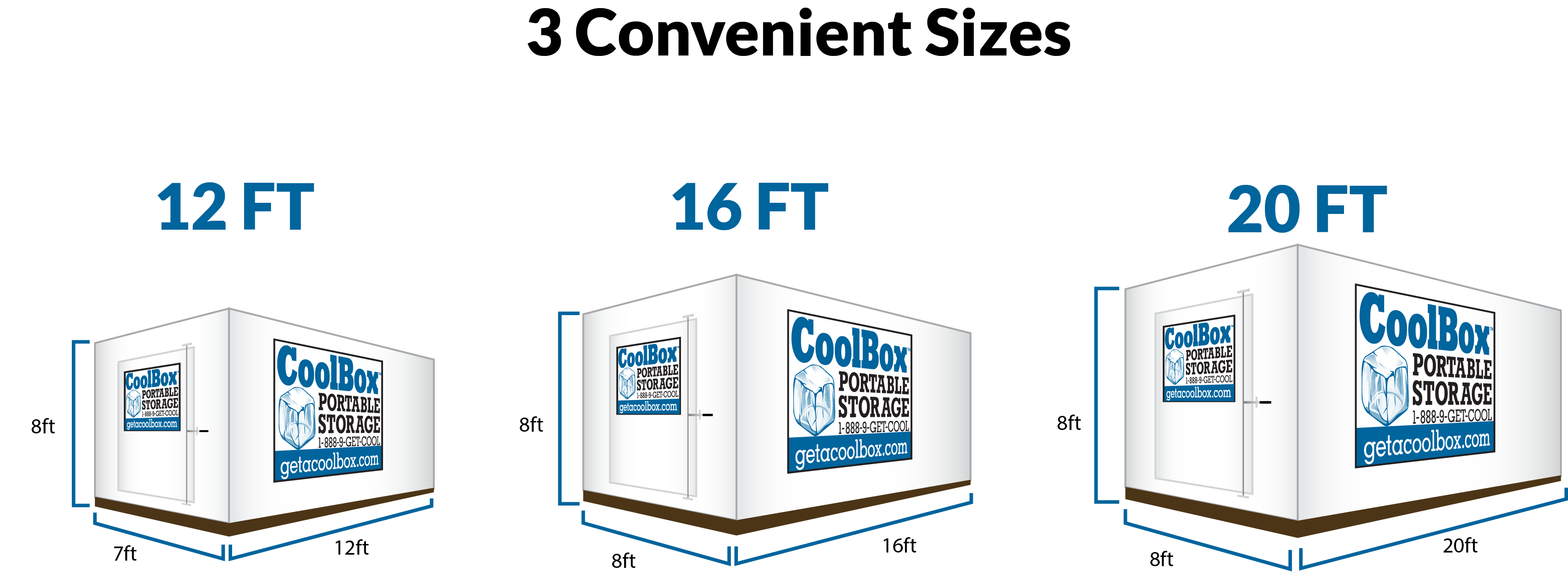 Portable Storage Sizes  sc 1 th 136 & Cool Box Storage Containers | Rent Portable Storage Containers